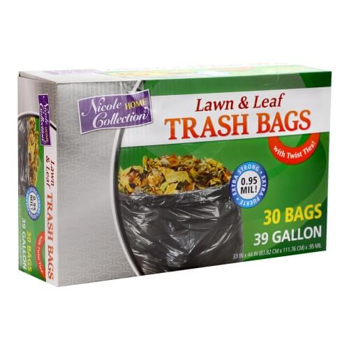 Premium Heavy Weight Plastic Trash Bags<br/>Size Options: 39 Gallon Trash Bags