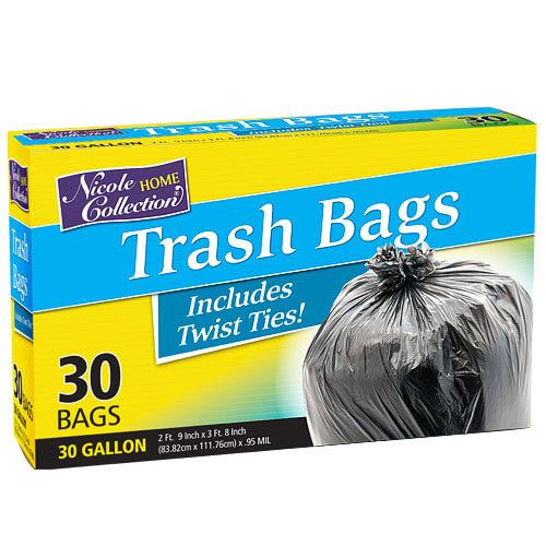 Premium Heavy Weight Plastic Trash Bags<br/>Size Options: 30 Gallon Trash Bag