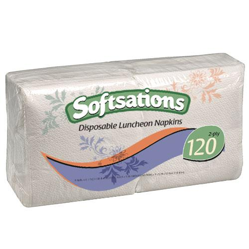 1/4 Fold Lunch Napkin / White