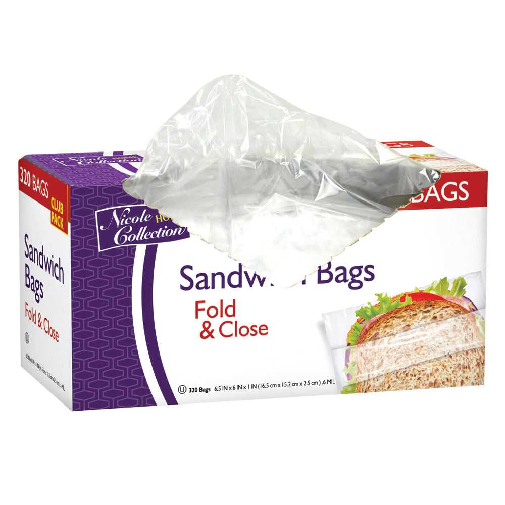 Premium Heavy Weight Plastic Fold And Close Storage Bags<br/>Size Options: 6.5inchx6inch Storage Bag