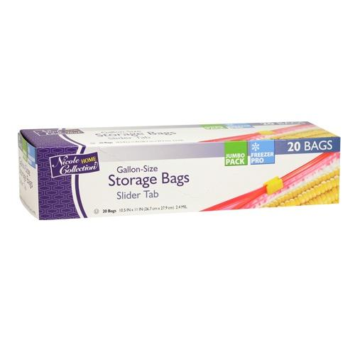 Premium Heavy Weight Plastic Slide Storage Bags<br/>Size Options: 1 Gallon Storage Bag