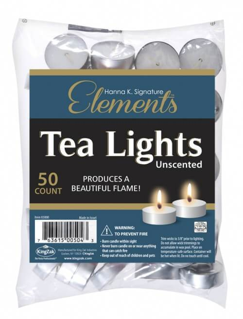 50 Tealights / Unscented