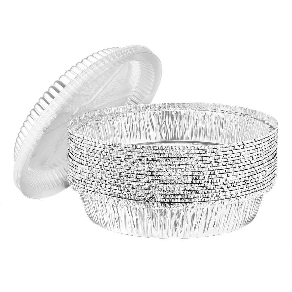 Heavy Duty Aluminum Foil Round Pan With Dome Lid 8.5