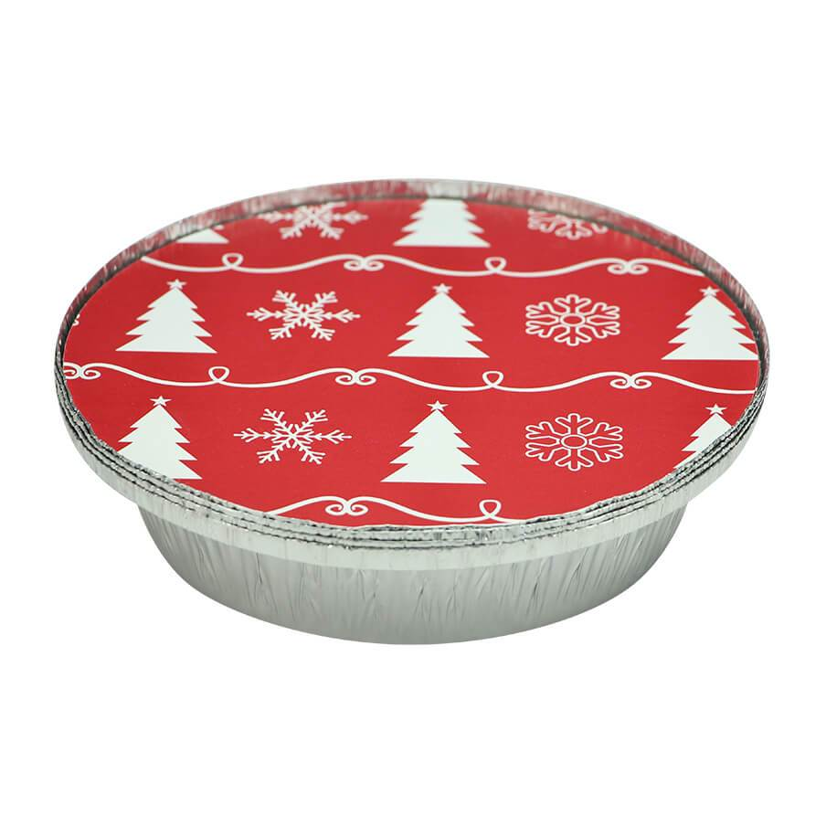 7inch Pan / Red/White Trees