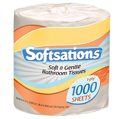 2 Ply Toilet Tissue Roll 1000 Sheet / White