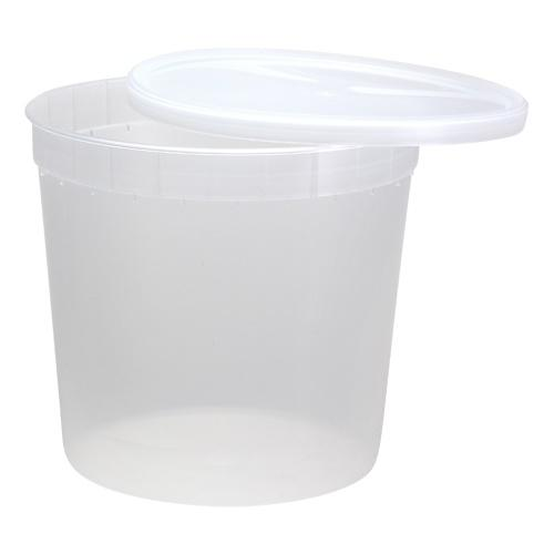 Plasric Container<br/>Size Options: 16oz Container, 32oz Container and 80oz Container