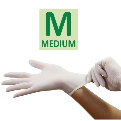 Medium Vinyl Gloves / White