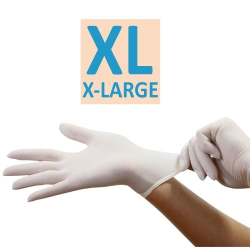 X-Large Vinyl Gloves / White