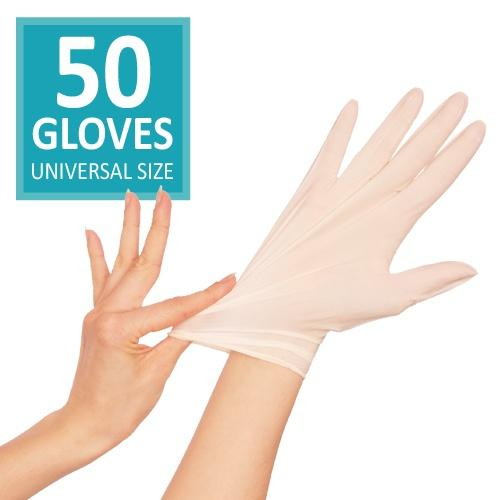 Powder Free Vinyl Gloves / White