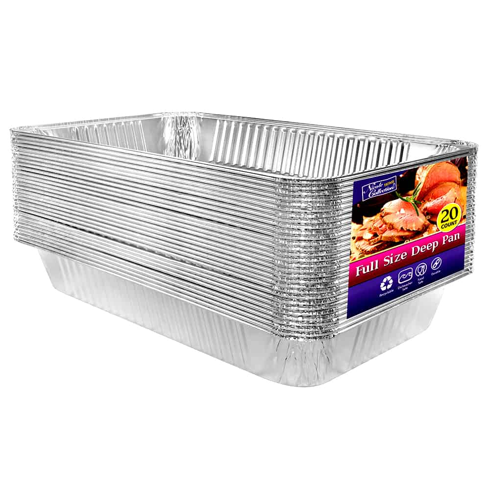 Heavy Duty Aluminum Foil Full Size Deep Pan with Label 20.75