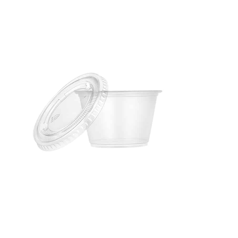 Plastic Portion Cup<br/>Size Options: 2oz Cup, 4oz Cup, and 5.5oz Cup