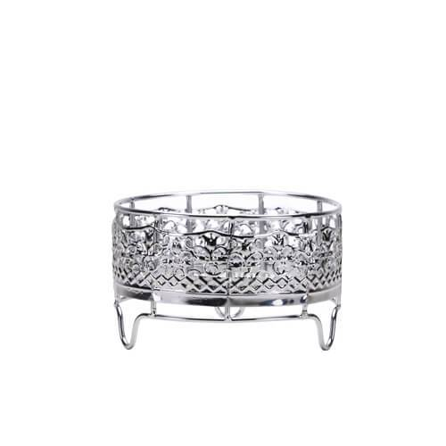 Decorative Container Holder / Silver