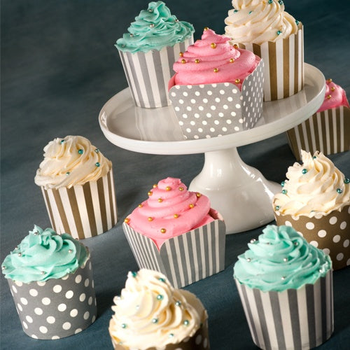 Premium Heavy Weight Paper Assorted Baking Cups<br/>Size Options: 2inch Baking Cup and 2.25inchx2inch Baking Cup