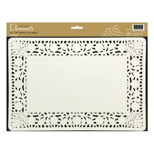 10inchx14inch Doily / White