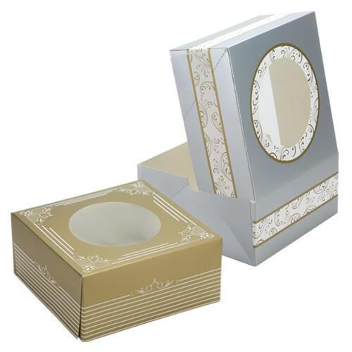 Cookie Gift Boxes / Assorted Gold/Silver