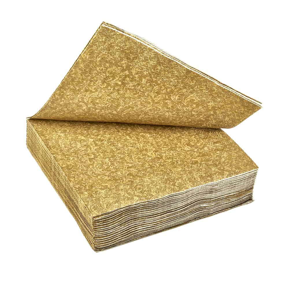 Lunch Napkin / Gold