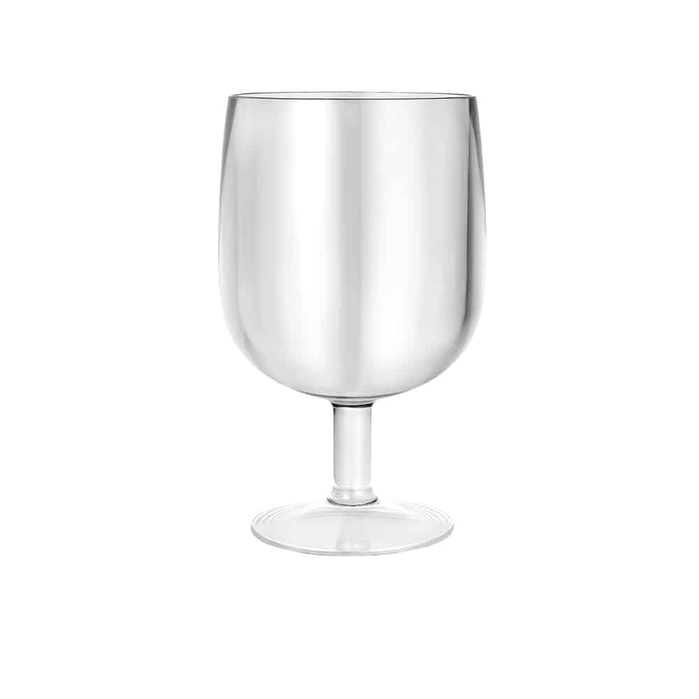 Premium Plastic Dinkware<br/>Size Options: 9oz Acyrlic Short Stem Wine Glass