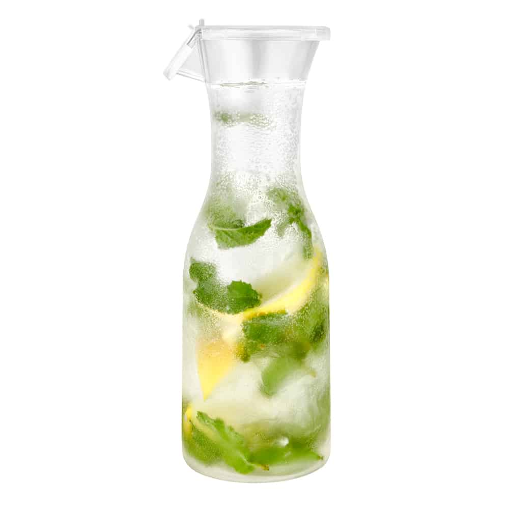 Premium Heavy Weight Plastic Acrylic Carafe<br/>Size Options: 40oz Acrylic Carafe and 20oz Acrylic Carafe