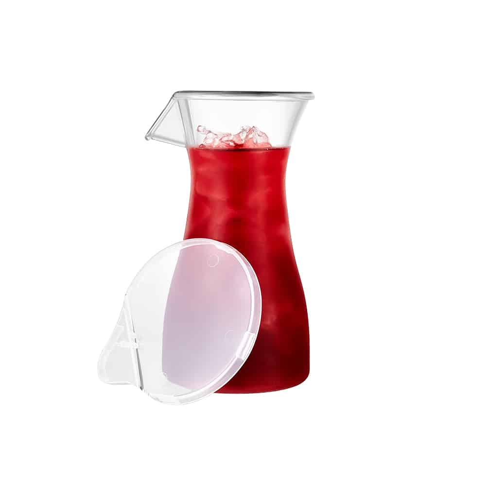 Premium Plastic Acrylic Carafe Jar<br/>Size Options: 12oz Carafe Jar, 20oz Carafe Jar, and 40oz Carafe Jar