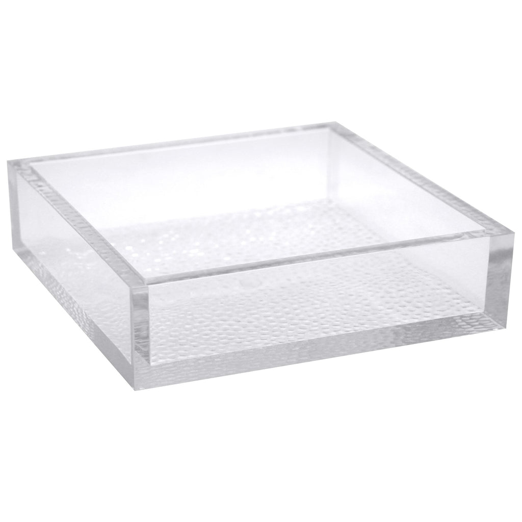 Premium Heavy Weight Plastic Acrylic Napkin Holder<br/>Size Options: 6.7inchx6.7inchx1.6inch Acrylic Napking Holder and 8inchx4.6inchx1.6inch Acrylic Napkin Holder