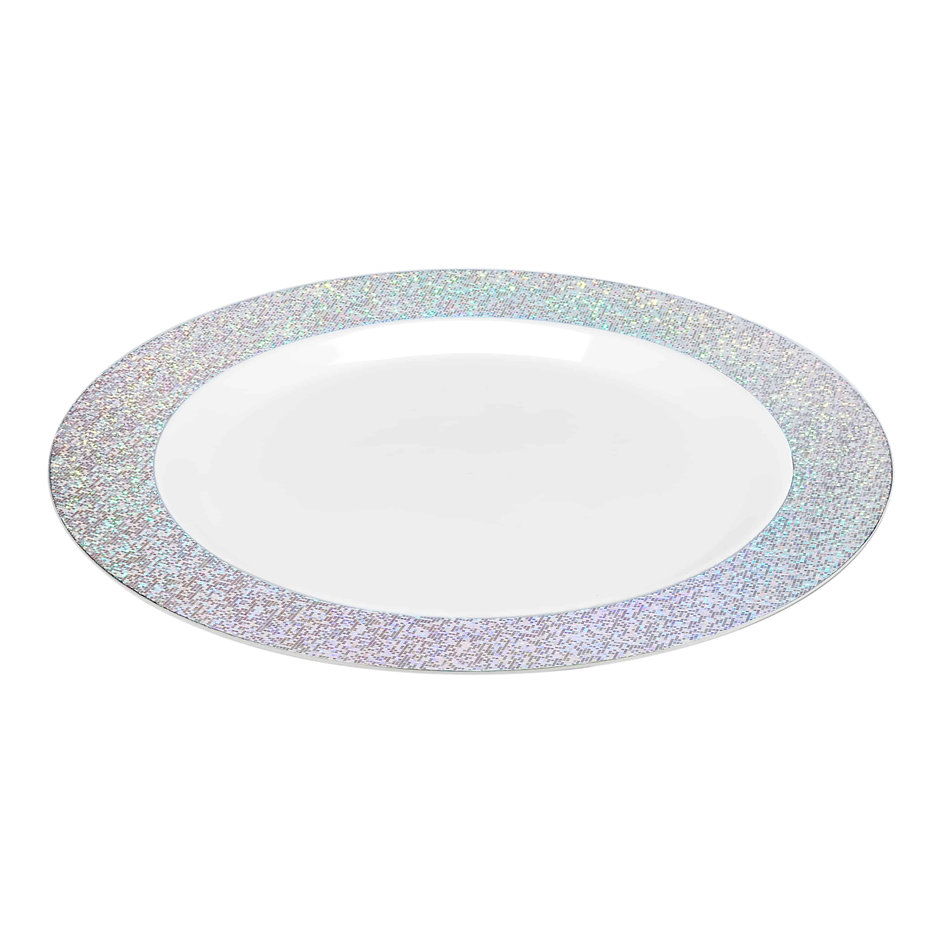 Premium Plastic Sparkle Dinnerware<br/>Size Options: 10.25inch Plate, and 7.5inch Plate