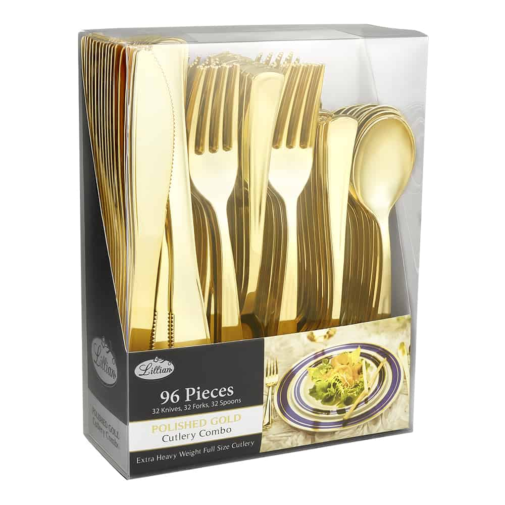 Premium Extra Heavy Weight Plastic Cutlery - 96pc Cutlery