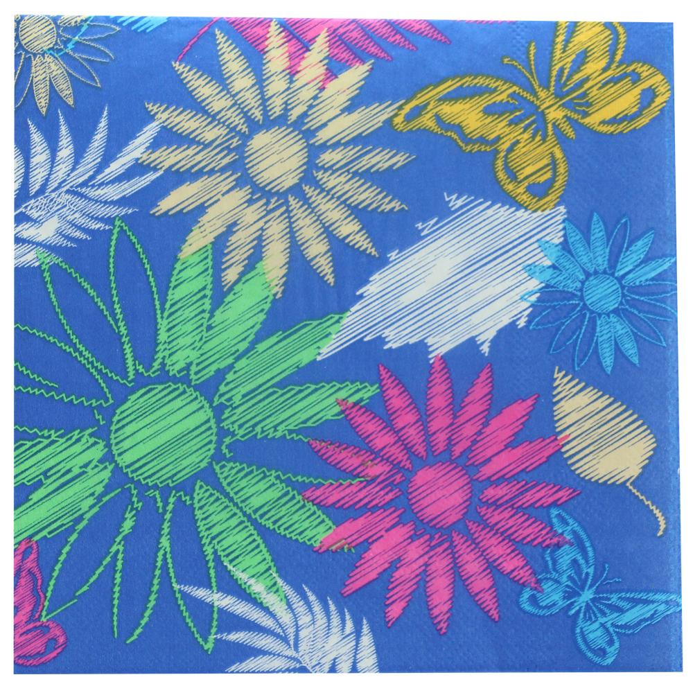 Lunch Napkin / Daisies Blue