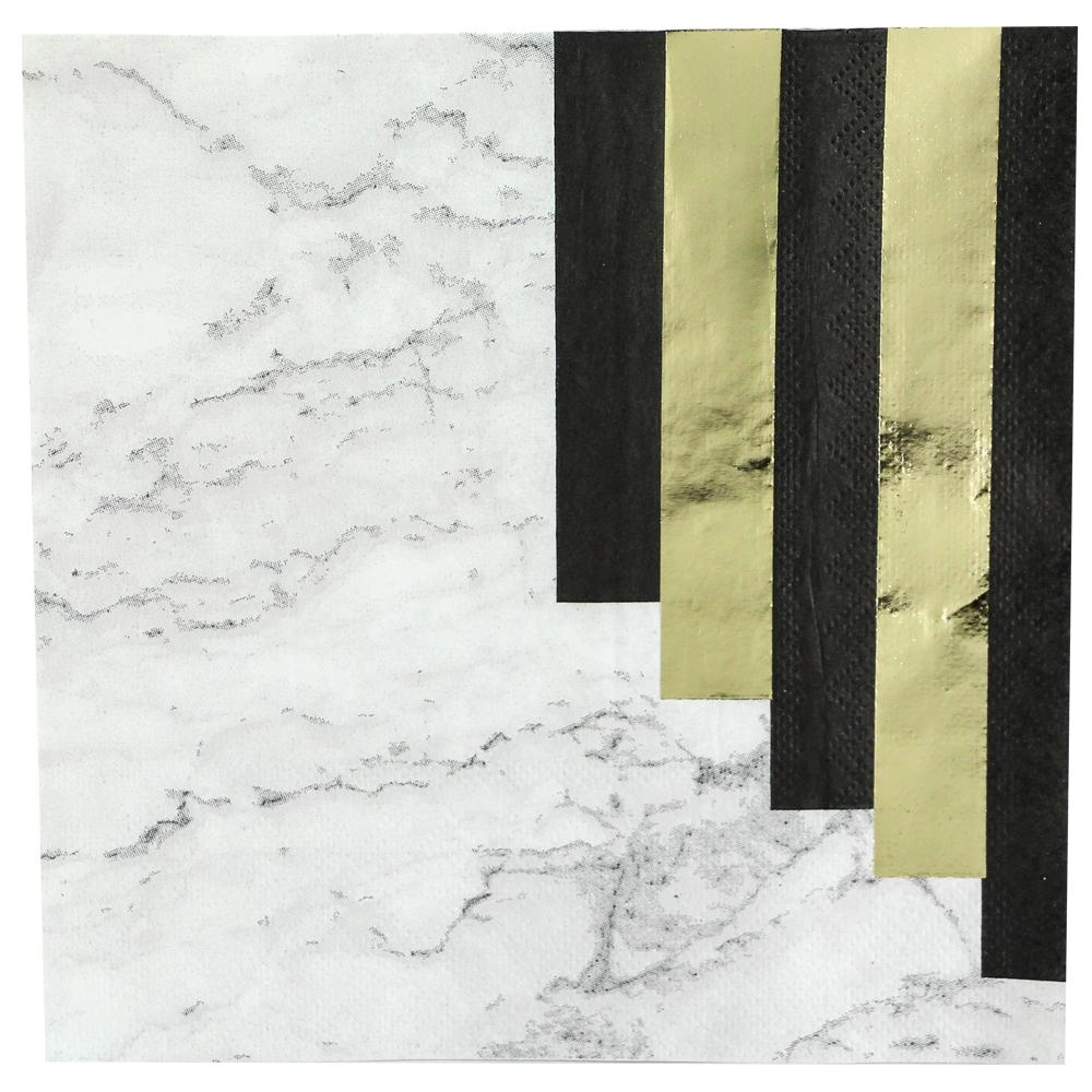 Lunch Napkin / Marble Stripes