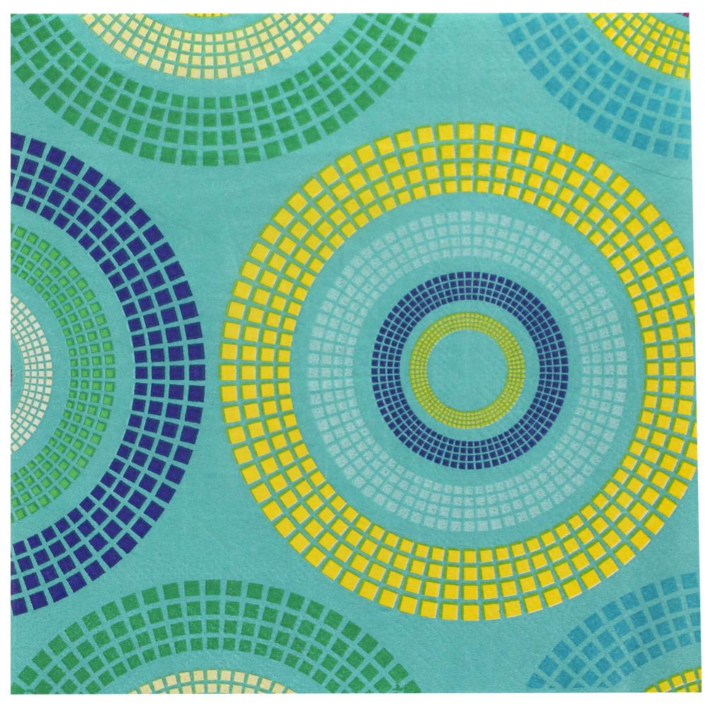 Lunch Napkin / Spiral Aqua