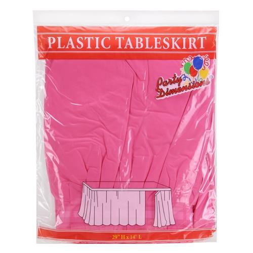 29inchx14inch Tableskirt / Hot Pink