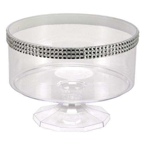 40oz Serving bowl / Clear with Jewel Accent