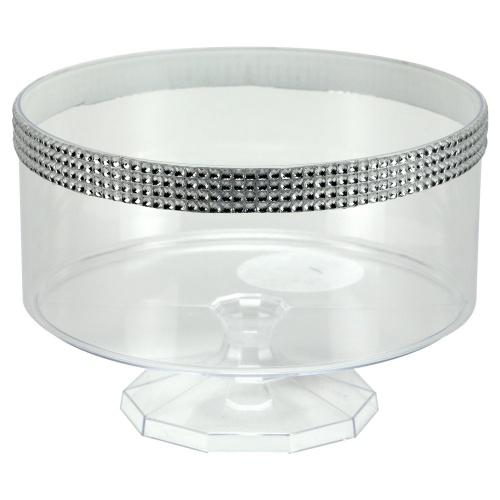 80oz Serving Bowl / Clear with Jewel Accent
