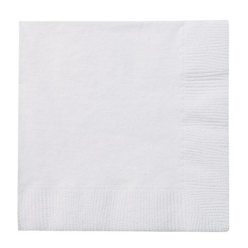 Beverage Napkin / White