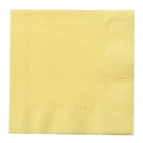 Beverage Napkin / Yellow