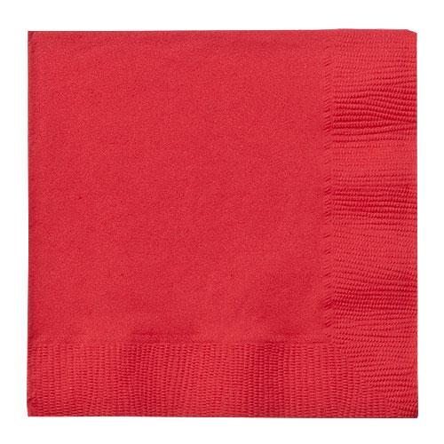 Beverage Napkin / Red