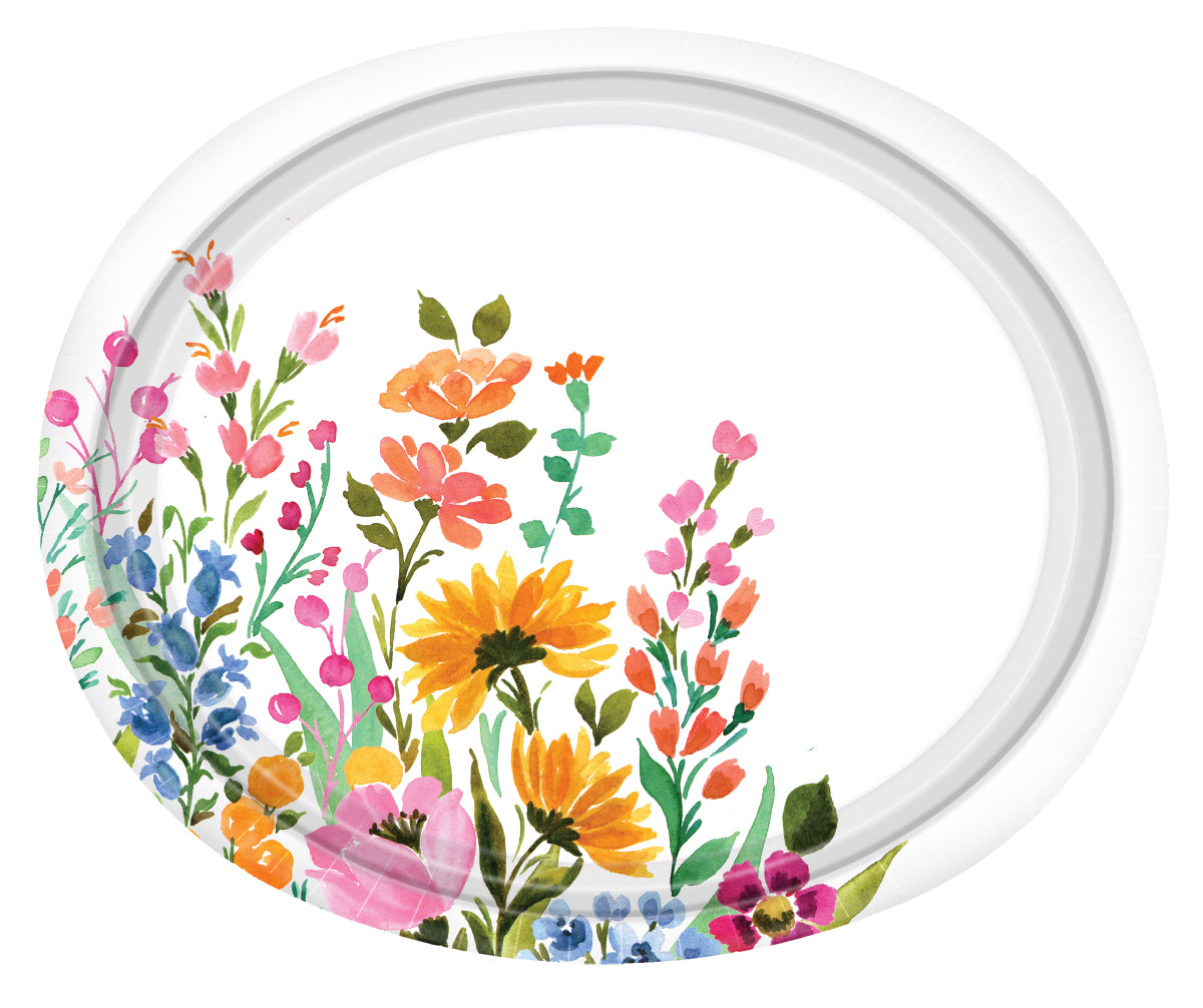 Premium Paper Perennial Tableware<br/>Size Options: 12inch Plate, 10inch Plate, 8.5inch Plate, 6.75inch Plate, 20oz Plate, Lunch Napkin, and 12oz Cup
