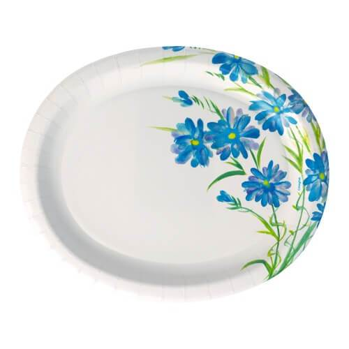12inch Plate / Blue Floral