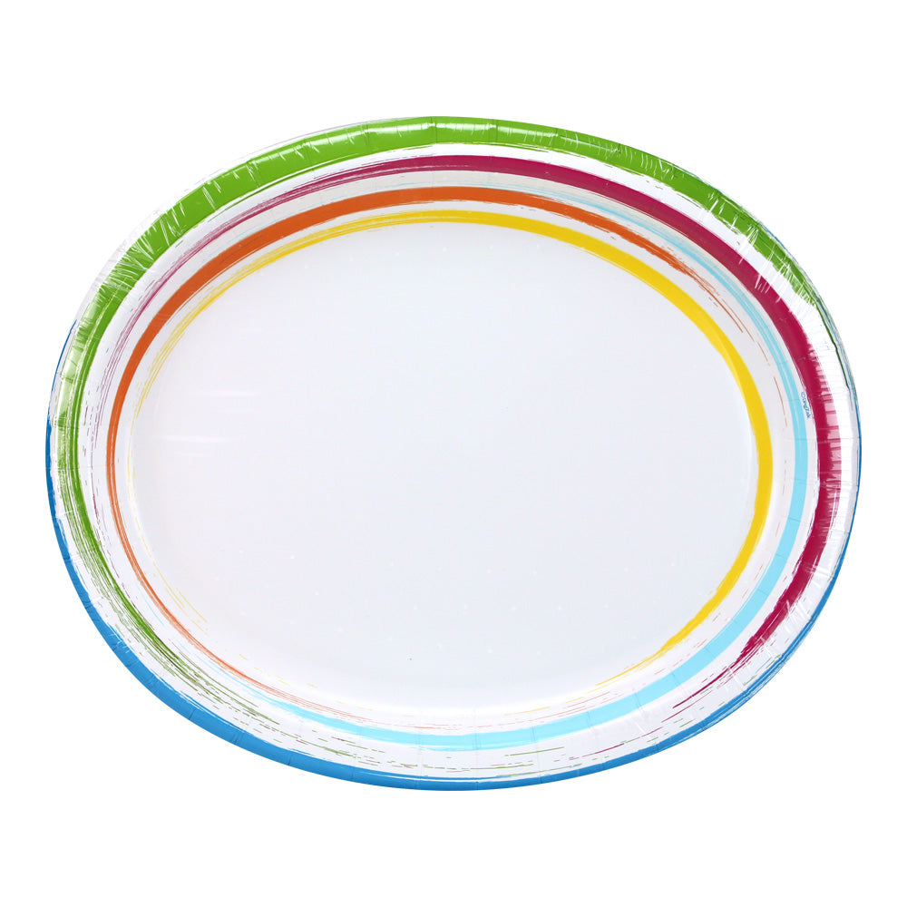 Brushstrokes Tableware<br/>Size Options: Size Options: 12inch Plate, 10inch Plate, 8.75inch Plate, 7inch Plate, 20oz Bowl, 12oz Bowl, 12oz Cup., and Lunch Napkin