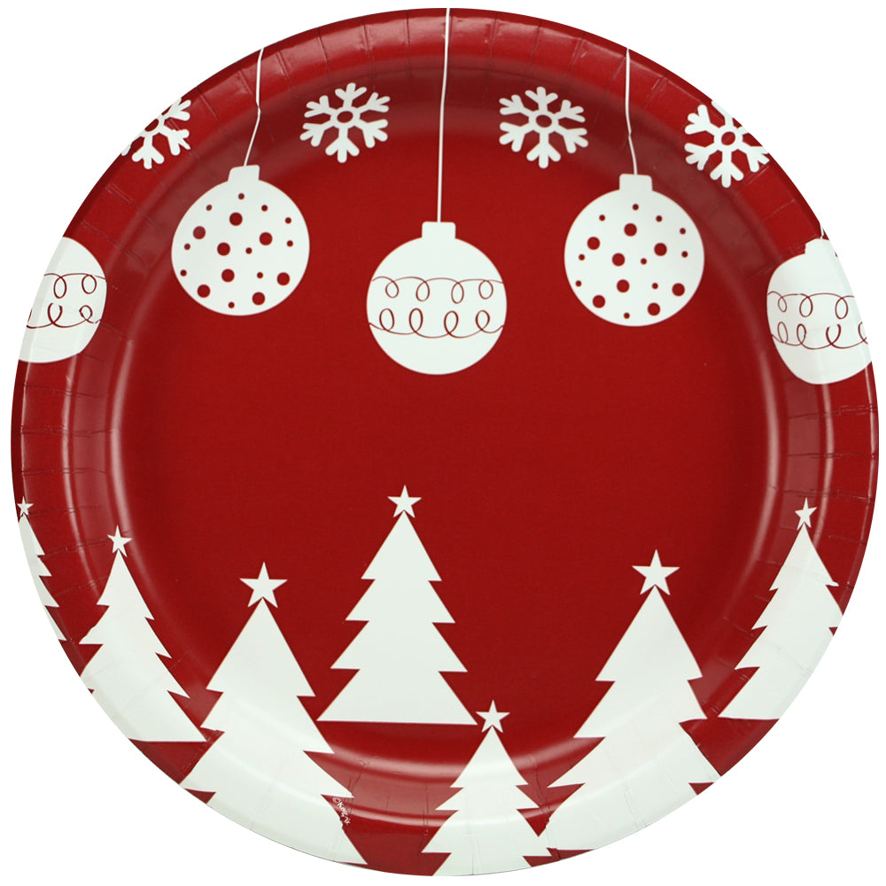 Premium Paper Bulbs & Trees Tableware<br/>Size Options: 10inch Plate, 8.5inch Plate, 6.75inch Plate, and Lunch Napkin