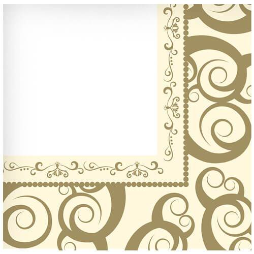 Lunch Napkin / Gold Medley