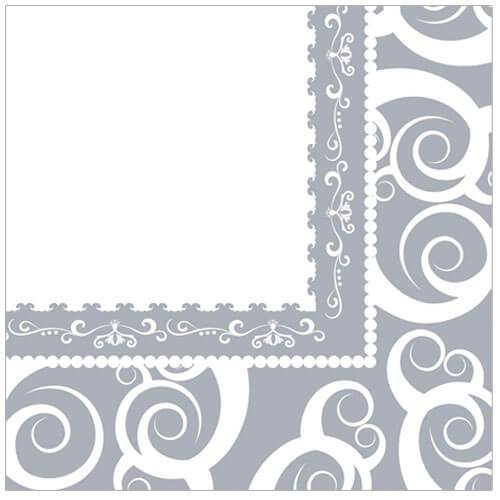 Lunch Napkin / Silver Medley