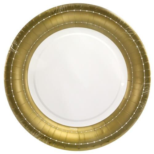 10.25 Plate / Gold Beaded