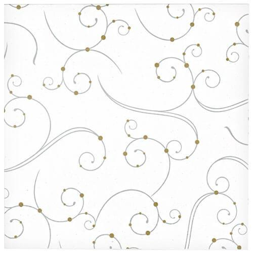 Lunch Napkin / Swirls & Pearls