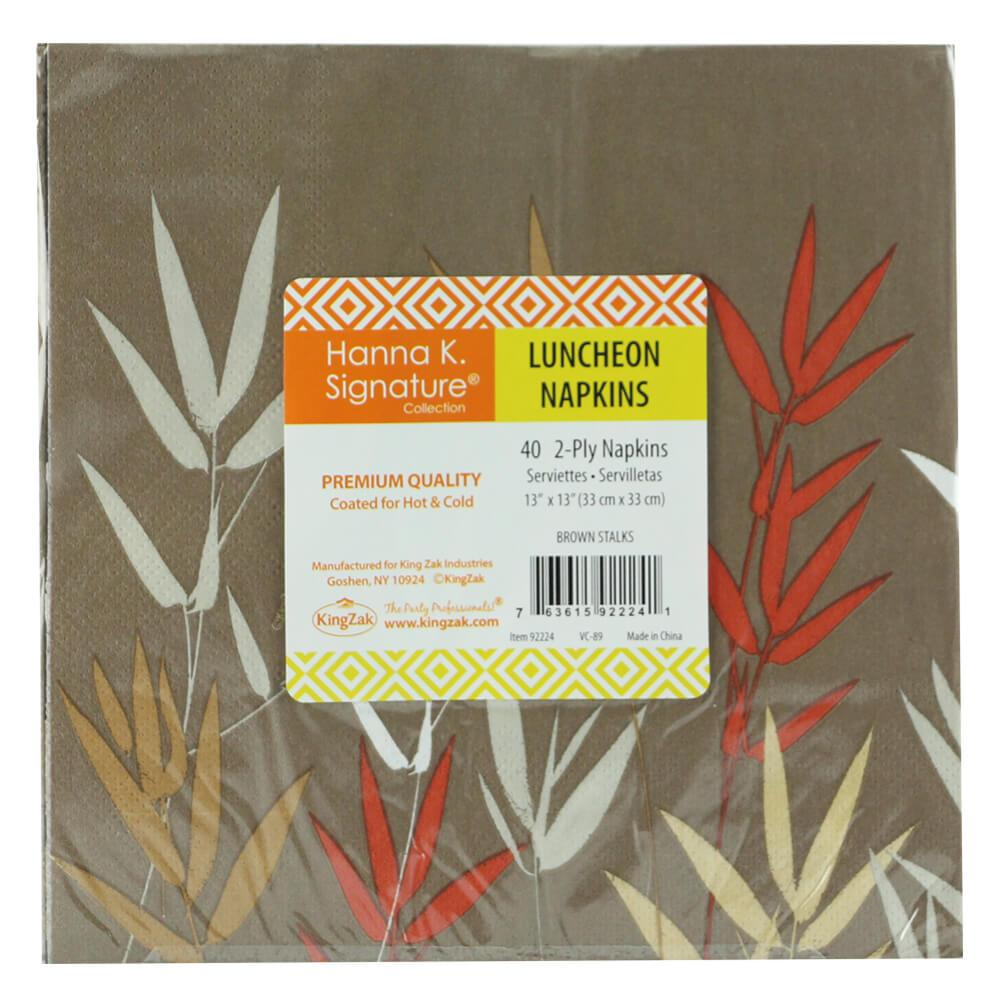Luncheon Napkin / Stalks Brown