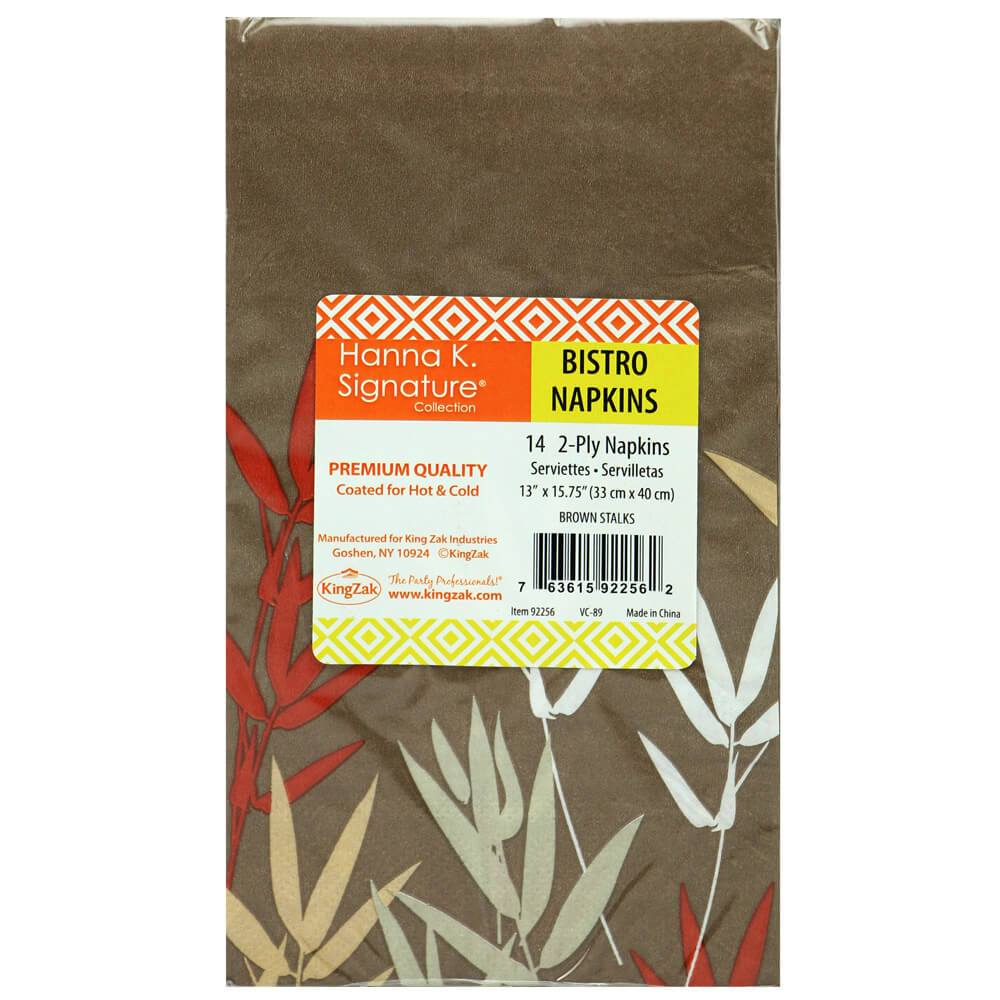 Bistro Napkin / Stalks Brown