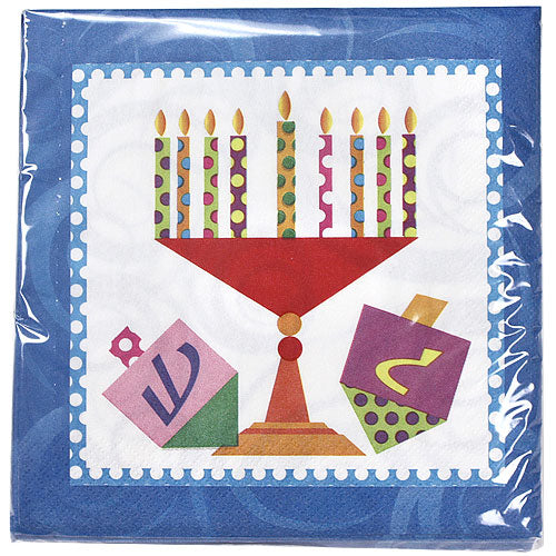 Premium Heavy Weight Paper Happy Chanukah Tableware<br/>Size Options: 10.25inch Plate, 7inch Plate, Lunch Napkin, Beverage Napkin and 54inchx96inch Tablecover