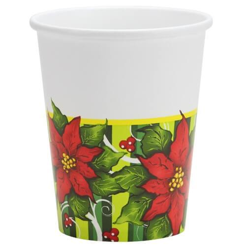 9oz Cup / Poinsettia Wreath