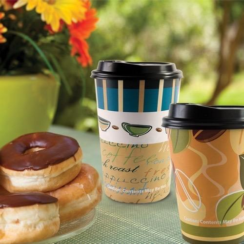 Premium Paper Hot Cup<br/>Size Options: 12oz Cup, 16oz Cup, and Lids