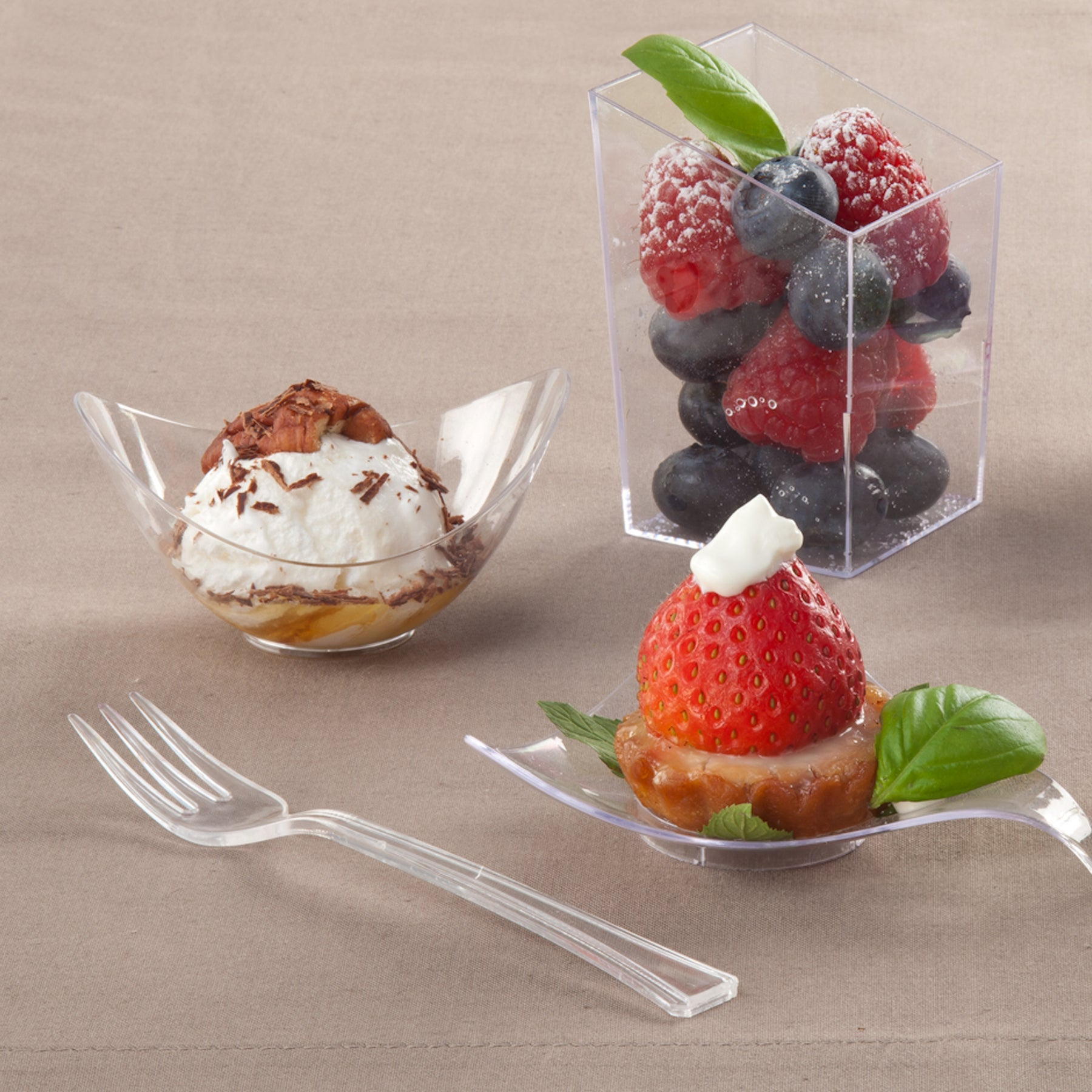 Premium Plastic Mini Oval Bowl