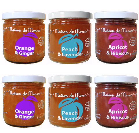 Six jars assortment - Other fruits